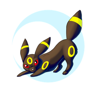 Umbreon Glow (Animated) by Robin-Crafts