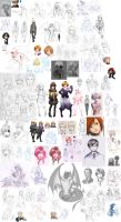MM: Really HUGE sketch dump 9-12 to 1-13 by ryuuen
