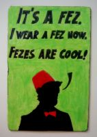 DR. WHO SMITH FEZ Requested Magnet by RidiculousRandomHero