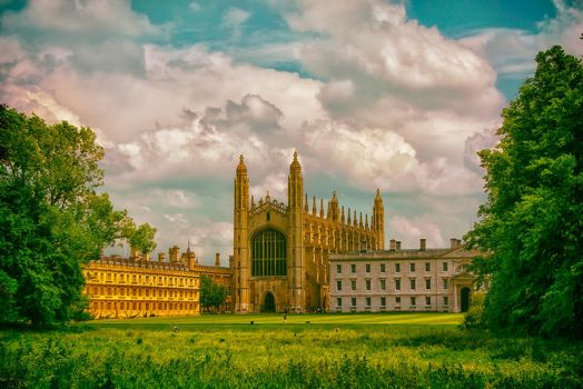 Summer Time At Kings College,Cambridge by fineartbyandrewdavid