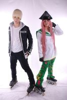 Air Gear Simca and Kazu Cosplay by varzam