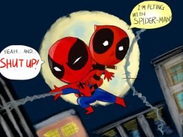 Deadpool and Spider-Man by SylvieZ