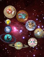 Pokemon planets by e1ectricthunder