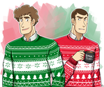 Dorks in Christmas sweaters by Angel-soma