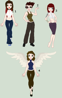Adoptables Sale!! (2/4 Open) by Kat-and-Raven-ADOPTS