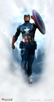 Chris Evans Captain America by patokali