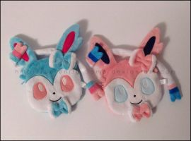 Zipper Pouches: Shiny Sylveon and Sylveon by Serenity-Sama