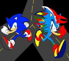 Shadic VS Sonic by Pure2153Light