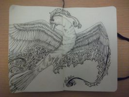 365 days of doodles challenge: day 22 - Phoenix by patij212