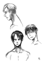 SNK: Faces practice 2 by qianying