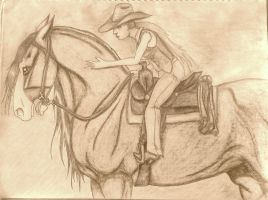 Portrait of the Perfect Team - Outlaw Trail Sepia by DarKestcreagirl
