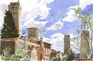 San Gimignano Towers by olivier2046