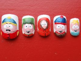 south park fake nails by Ninails
