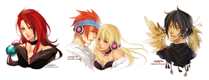 :Commish: Headshot Lineup by Chuuchichu