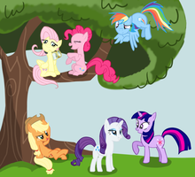 Just another day in Ponyville by catz537