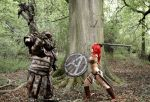 Red Sonja And Troll by Artyfakes
