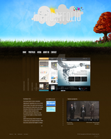 Portfolio Template - from Sky to Ground by Chiipzieqt