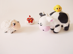 Harvest moon polymer clay figure set by FairysLiveHere