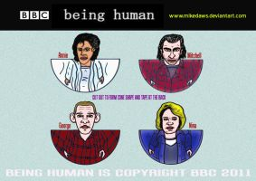 Being Human by mikedaws