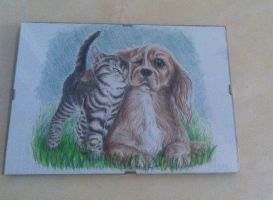 Puppies - pastel by KyoukiW