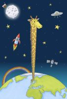 Giraffe in Space by CaptainNatX