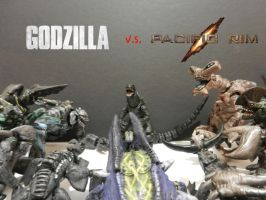 GODZILLA VS PACIFIC RIM KAIJUS by mayozilla