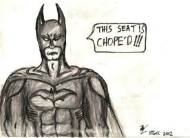 Batman Chopes a Seat by Jedd-the-Jedi