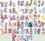 60 Forms of Mario by Creation7X24