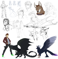 Sketch Dump 2014 by MintyMaguire