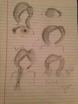 Hair and Eye Sketches by TheFabooPrincess