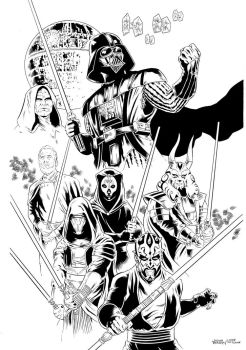 Unused Star Wars thing inked by jasonbaroody