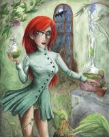 Poison Ivy in her lab by MajorKoryu