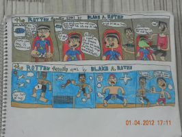 TRF comic strips 1 and 2 by BARproductions