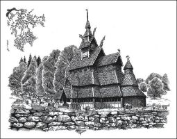 Oldest Wooden Norwegian Church by spiritamael