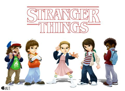 Stranger Things Saturday Morning by bluenyte
