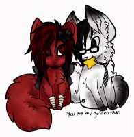 cute wolf couple by jessp118