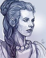 Princess Leia- Carrie Fisher Tribute by KeeperofAges