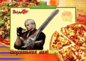 Dante and pizza 1 by Indiana69