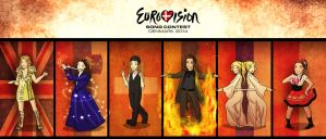 My Eurovision 2014 faves by Lunar-Graphite