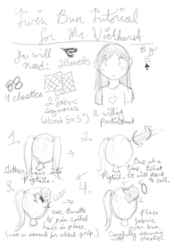 Twin Bun Tutorial for Mr. Wickherst by Choco-la-te