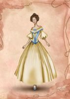 Romantic Era Costume Inspired Fashion Illustration by BasakTinli