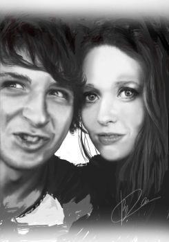 Chris and Sarah - Couples Drawing by KyleArmstrong