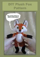 Plush Fox Sewing Pattern by LimitlessEndeavours