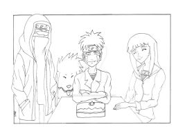 Happy Birthday, Kiba-Kun!!! Line Art by ChiisaiKabocha17
