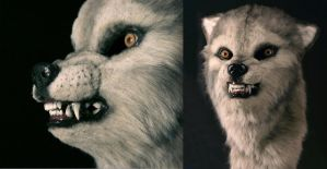 Grey Wolf Mask by pollypockette