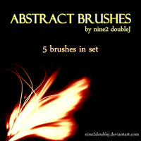 Abstract brushes by nine2doubleJ