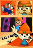 PSASBR Parappa wallpaper by Emeraldfire131