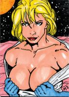 Power Girl Sketch Card by mmunshaw