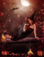 Witchy Woman by EnchantedWhispersArt