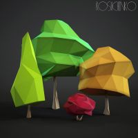 Low-poly Trees Free Stuff by doubleagent2005